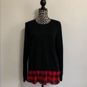 Black and buffalo plaid sweater by Chocolate